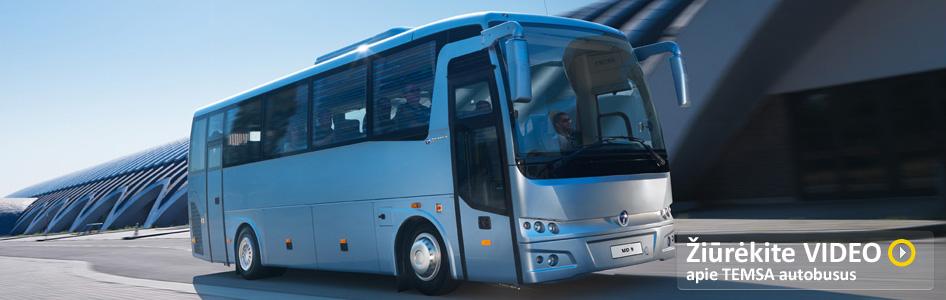 Žiūrėkite video apie Temsa autobusus